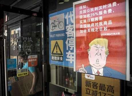 Charge de Donald Trump em Guangzhou, na China