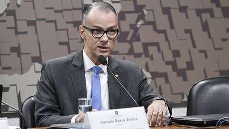 O contra-almirante Antonio Barra Torres, diretor-presidente da Agência Nacional de Vigilância Sanitária (Anvisa)