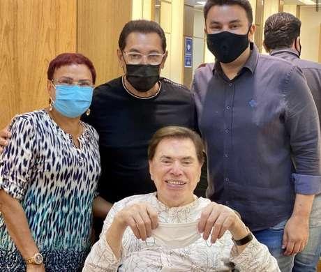 Silvio Santos e o cabeleireiro Jassa