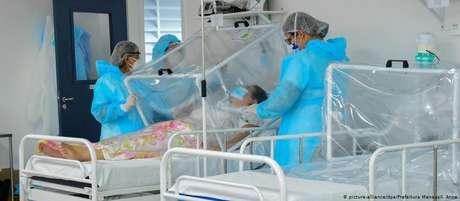 Paciente em Manaus. Cidade vive novo colapso dos serviços de saúde