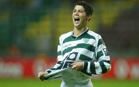 Cristiano Ronaldo estava no Sporting (Foto: Divulgação)