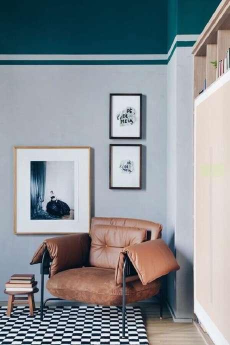 4. Saiba como escolher a poltrona de couro ideal para a sua necessidade e estilo de decoração – Foto: Apartamento 203