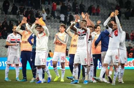 Em 2019, o São Paulo venceu o Athletico por 1 a 0, em Curitiba (Foto: Matheus Meneses/MyPhoto Press/Lancepress!)