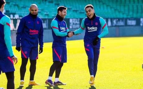 Messi treinou com a equipe (Foto: Divulgação/Barcelona)