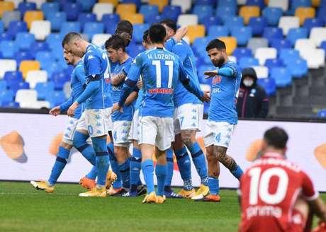 Napoli venceu sem problemas (Foto: Divulgação/Napoli)