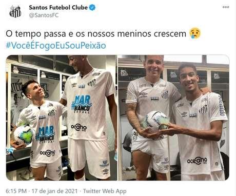 Soteldo e Bruno Marques decidiram o jogo neste domingo (Foto: Reprodução / Twitter /SFC)