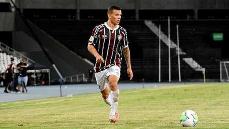 Calegari, durante a vitória do Fluminense contra o Sport, no Nilton Santos (Foto: Mailson Santana/Fluminense FC)
