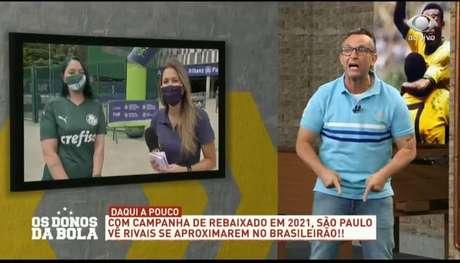 Neto é apresentador do 'Os Donos da Bola' (Foto: Reprodução/Band)