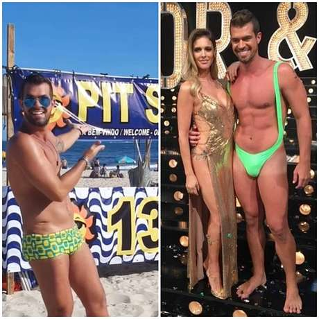 O modelo diante de seu empreendimento na praia de Copacabana e nos bons tempos de Borat com Fernanda Lima no 'Amor & Sexo'