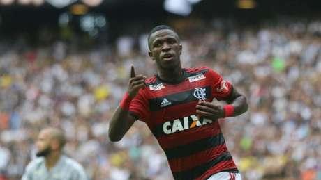 Vini Jr. em ação pelo Flamengo (Foto: Gilvan de Souza/Flamengo)
