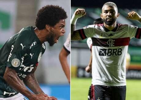Atacantes de Palmeiras e Flamengo brilharam na rodada (Cesar Greco / Palmeiras e Alexandre Vidal/Flamengo)