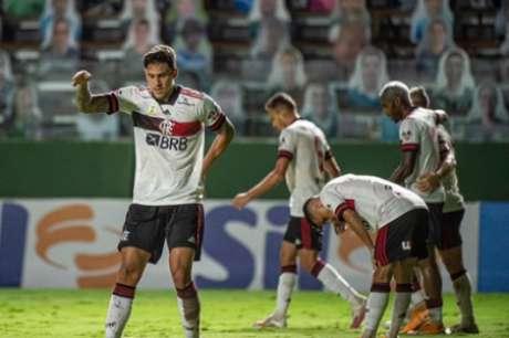 Pedro celebra gol sobre o Goiás (Foto: Alexandre Vidal/Flamengo)