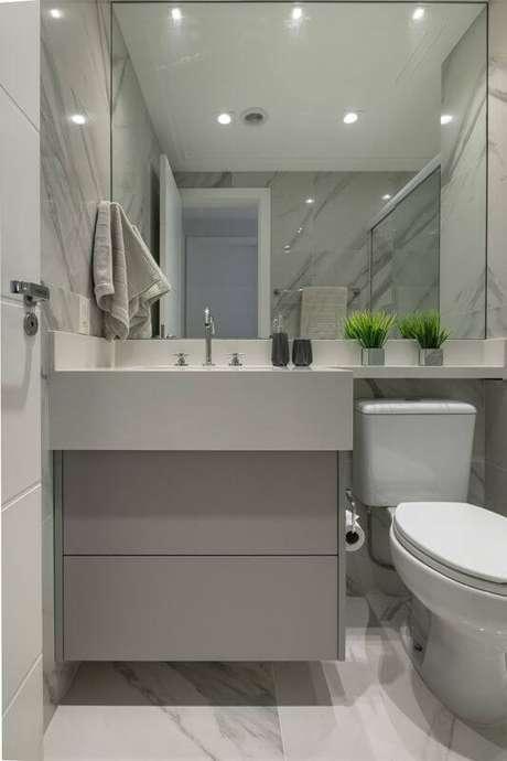 12. Banheiro pequeno sem janela – Via: Revista VD