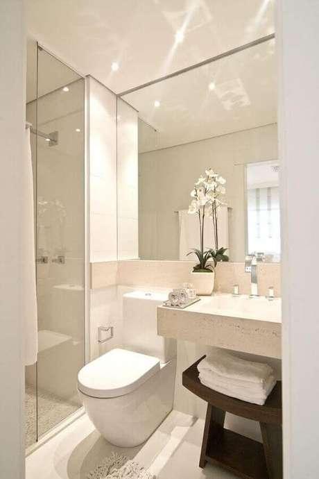 5. Banheiro pequeno sem janela – Via: Revista Vd