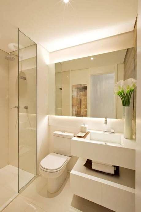 13. Banheiro sem janela branco – Via: Homify