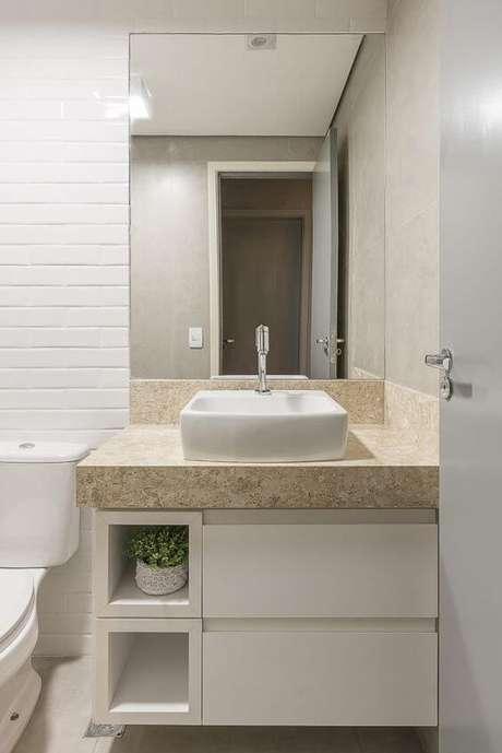 14. Banheiro sem janela simples – Via: Juliana Interiores
