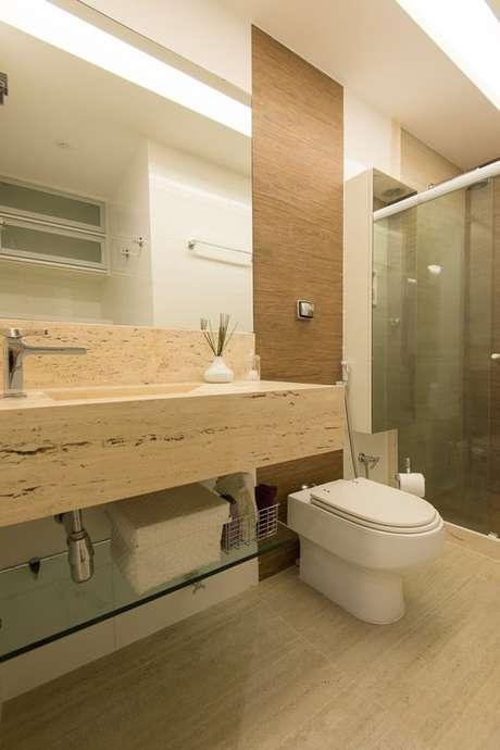 23. Banheiro elegante sem janela – Via: Habitissimo