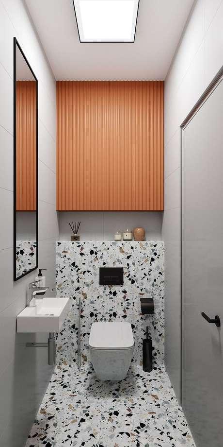 1. Banheiro sem janela pequeno – Via: Fashion Bubbles