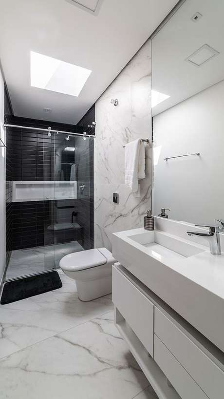 29. Banheiro simples sem janela – Via: Habitare