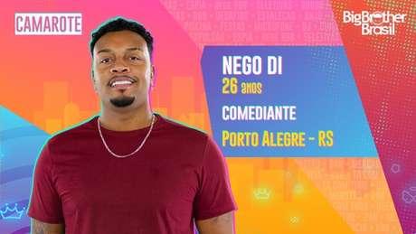 Nego Di, comediante - 26 anos