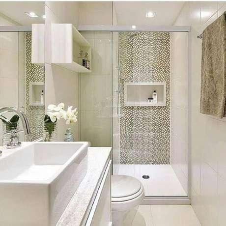 37. Decoração clean para banheiro – Via: Mayla Mikaelian e Bianca Freitas