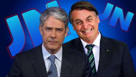 Inimigos íntimos: o editor-chefe do 'JN', William Bonner, voltou a exibir imagens de Bolsonaro dias após ser duramente xingado pelo presidente