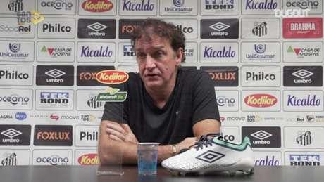 Cuca quer ganhar mais um título da Libertadores, agora com o Peixe (Foto: Reprodução/Dugou)