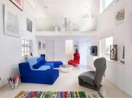 30. Casas com mezanino interno com estilo clean. Fonte: Gort Scott