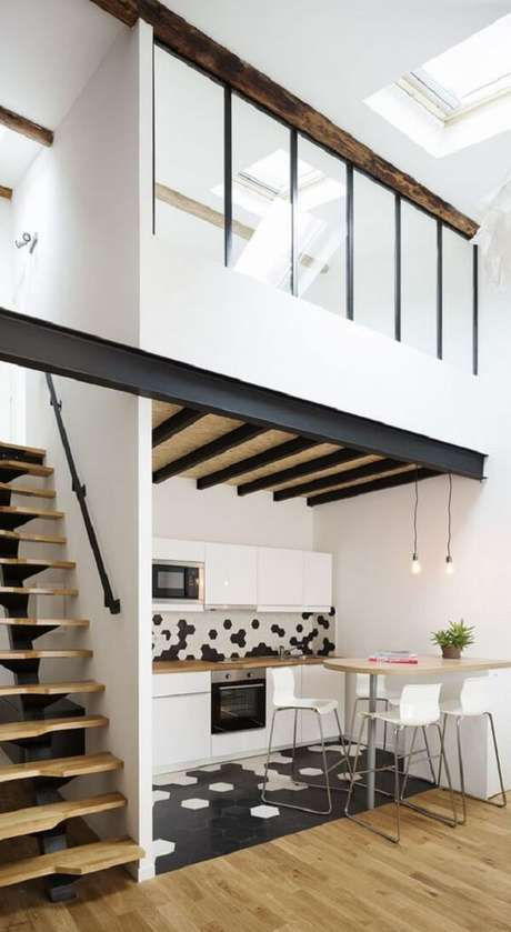 36. Defina as prioridade durante a construção da planta de casa com mezanino. Fonte: Pinterest