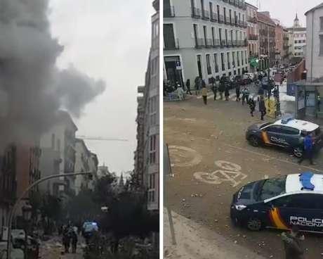 Explosão no centro de Madri tem causa ainda desconhecida