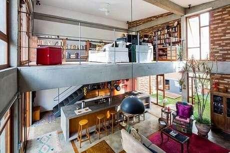 45. Modelo de casa com mezanino com ambientes integrados. Fonte: Pinterest