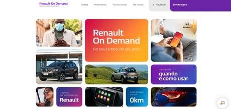 Site do Renault On Demand: rodar de Kwid, Stepway ou Duster ficou mais fácil.