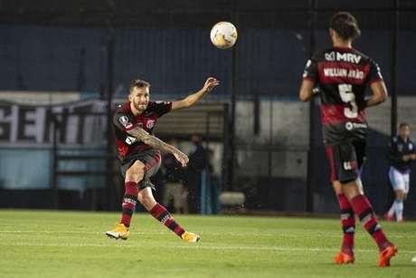 Léo Pereira em ação pelo Flamengo (Foto: Alexandre Vidal/Flamengo)