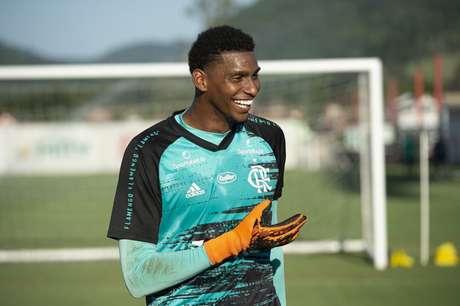 Hugo Souza foi titular no último jogo, contra o Goiás (Foto: Alexandre Vidal/Flamengo)