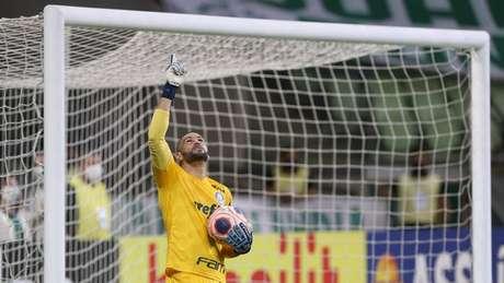 Weverton se afirma cada vez mais no gol do Verdão (Foto: Cesar Greco/Palmeiras)