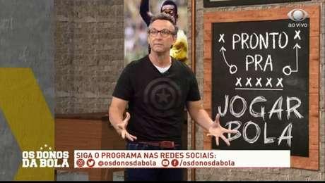 """Craque Neto durante o programa """"OS Donos da Bola"""" (Foto: Reprodução/Band)"""