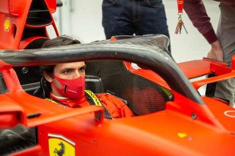 Sainz já fez até o molde do banco da Ferrari para 2021