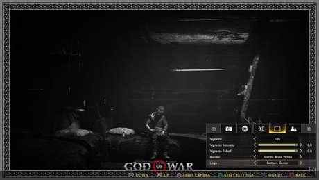 Menu do Modo Foto em God of War (Imagem: Divulgação/Santa Monica Studio/Sony Interactive Entertainment)