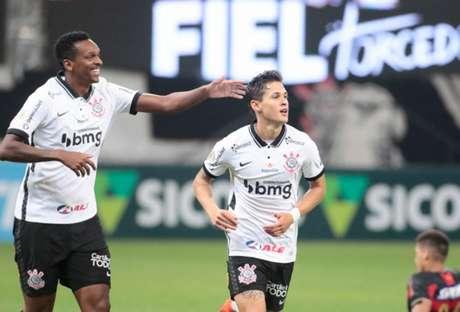Mateus Vital tem feito gols nos últimos jogos do Corinthians e repetiu a dose (Foto: Rodrigo Coca/Ag. Corinthians)