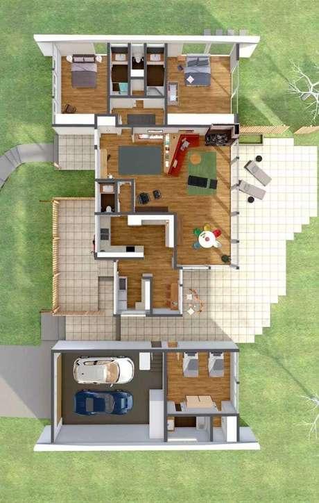 44. Casa sobrado 3D – Via: Pinterest