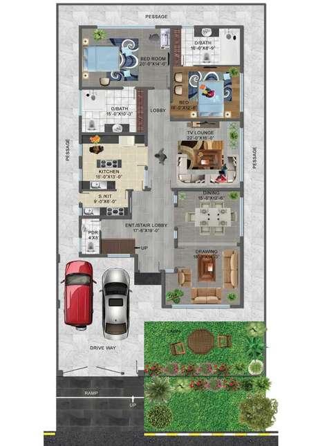 65. Encontre a planta de sobrado perfeita para sua casa – Via: Pinterest