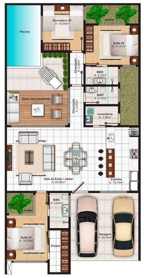 27. Plantas de casas sobrado – Via: Pinterest