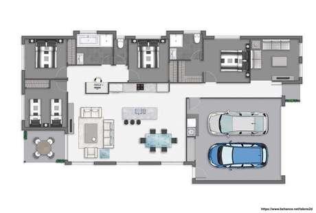 33. Plantas de sobrados com quartos pequenos – Via: Pinterest