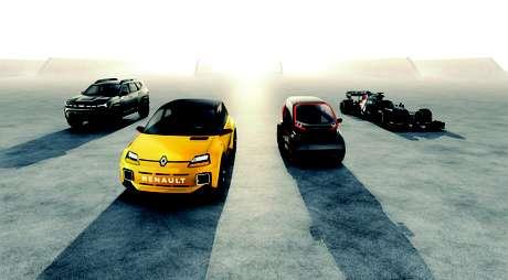 Os quatro pilares do Grupo Renault para os novos tempos: Renault, Dacia/Lada, Mobilize e Alpine por meio da Fórmula 1.