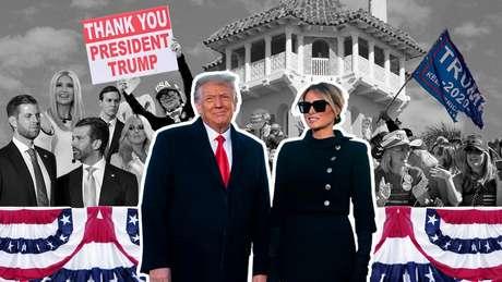 Donald Trump e Melania Trump deixaram a Casa Branca 4 anos antes do que gostariam