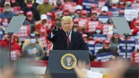 Trump discursa em comício nas eleições