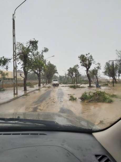 Beira, Moçambique 23/01/2021. TWITTER/@BEN_VW/via REUTERS
