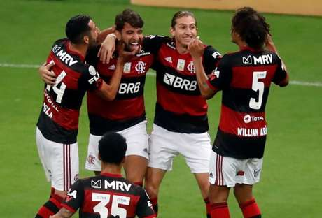 Pepê comemora gol pelo Flamengo (Foto: Francisco Stuckert/Fotoarena )