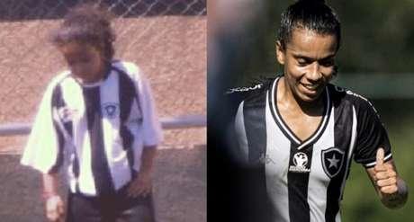 Em 2008, Vivian representou o Botafogo em um torneio de uma escolinha de futebol (Foto: Reprodução)
