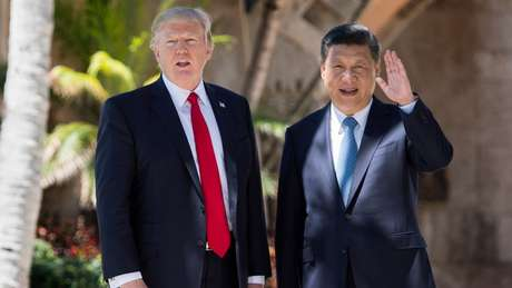Trump recebeu líderes internacionais como Bolsonaro e o presidente da China, Xi Jinping, em Mar-a-Lago